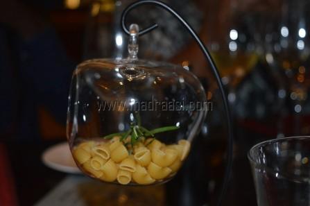 Branzillo alla livornese (marinated seabass, toasted in cherry tomato, olives, cappers and potato