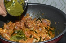 with green paste