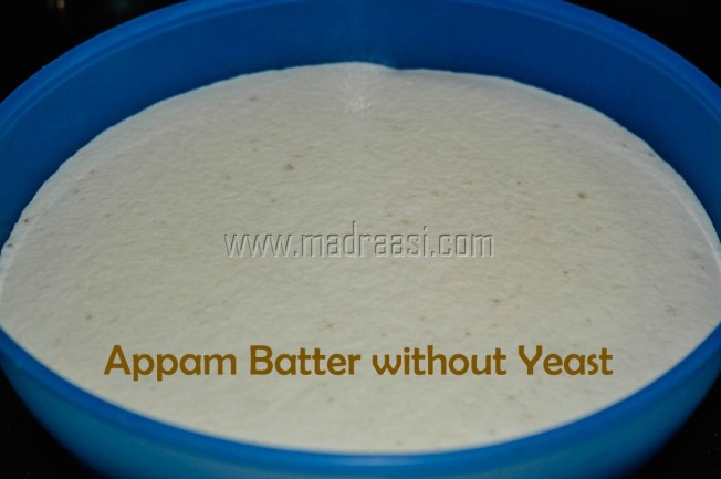 Appam Batter without yeast , How to grind Appam batter in mixie, no yeast appam batter, palappam, appam batter, image of appam batter, picture of appam batter