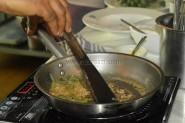 Mushroom sauce getting ready