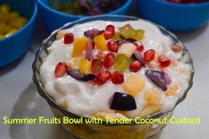 Summer Fruits in Tender Coconut Custard, custard, custard recipe, tender coconut custard, tender coconut recipe, recipe, recipes, food, food blogger, Indian food blogger, follow, tamil recipe, tamil dessert, tamil dessert recipes, summer recipes, beat the heat, beath the heat recipes, Indian summer, Indian summers, Indian summer recipe, elaneer, elaneer recipe, elaneer custard, elaneer custard recipe, yelaneer, yelaneer recipe, yelaneer recipe, coolant, coolant recipe