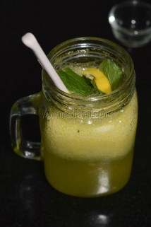 Add in the mint leaves and lemon slices