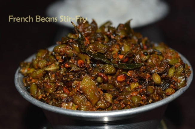 French Beans Stir-Fry, beans poriyal french beans stir-fry, tamil recipe, tamil recipes, image of french beans stir-fry, image of french beans stir fry, picture of french beans stir-fry, french beans stir-fry picture