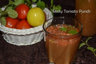 Minty Tomato Punch, summer coolant, beat the heat, summer recipe, Indian summer, summer drinks, refreshing drinks, refreshing drink, mint recipe, tomato recipe, image of summer drink, tomato juice, image of tomato juice, tomato juice picture, tamil summer recipe, tamil summer recipes, tamil summer drinks, tamil summer juice