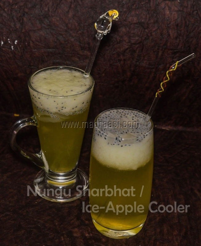 nungu sharbath, nungu sharbath recipe, making of nungu sharbath, sharbath recipe, sharbath, tamil sharbath, tamil sharbath recipe, cooler, summer cooler, summer cooler recipe, nungu recipe, nongu recipe, nongu sharbath, nongu sharbath recipe, ice apple sharbath, ice-apple sharbath recipe, toddy palm recipe, toddy palm cooler, toddy palm cooler recipe