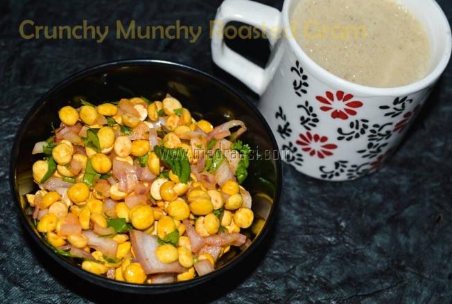 Crunchy munchy tea time snack, tea time snack, tea time snack recipe, roasted gram, roasted gram recipe, easy snack recipe, easy tea time snack recipe, simple tea time snack recipe, easy tea time snack recipe, no cook tea time snack recipe, bachelor snack recipes, tamil recipe, tamil tea time snack recipe, tamil cuisine, Indian cuisine