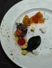 Cured Salmon & Chilli Compressed Melon and Ice Apples prepared by Chef Ranveer Brar