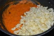 Tomato paste with boiled pasta