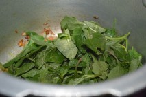 with spinach / Keerai