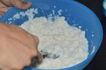 Mashed aval/poha getting mixed with oaked rice rava/idi rava