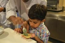 My little one preparing Ravioli