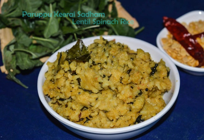 Paruppu Keerai Sadham, Lentil Spinach Rice, paruppu keerai sadham recipe, paruppu keerai schooru, keerai sooru, paruppu sooru, tamil recipe, tamil food, tamil nadu recipes, tamil nadu variety rice recipe, tamil nadu luch box recipe, tamil lunch box recipe, Indian lunch box recipe, vegetarian, tamilian cooking, tamil cuisine, madraasi recipe, madraasi lunch box recipes, kids lunch box recipe, paruppu sadham recipe, keerai sadham recipe, paruppu keerai sadham recipe, variety rice, rice recipe, Indian rice recipe, one pot meal, lentil spinch rice, spinach rice, lentil spincah rice recipe, paruppu keerai sadham recipe, paruppu keerai sadham seimurai, cooking, vegetarian rice recipe, vegetarian rice recipes