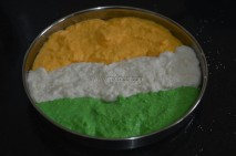 Batter transfered to dhokla mould