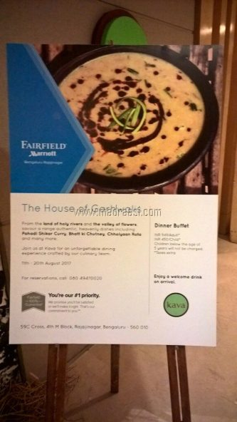 Gurhwali Food Festival - Marriott - Bangalore