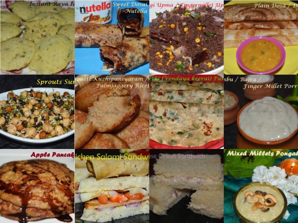 25+ Breakfast Recipes (veg and non-veg), காலை உணவு, 25 breakfast recipes, easy breakfast recipes, tamil breakfast recipes, madraasi breakfast recipes, madraasi recipes, Indian breakfast recipes, vegetarian breafkast recipes, non vegetarian breakfast recipes
