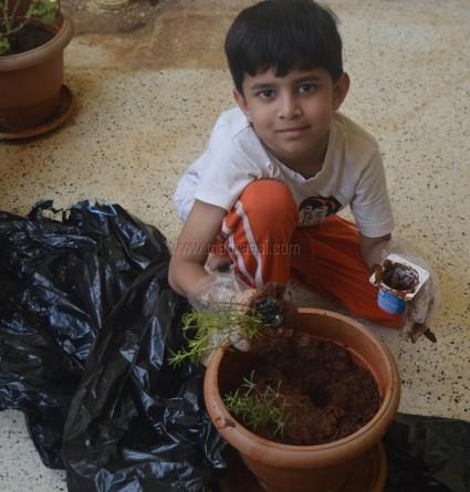 Visarjan at our Home with Eco-friendly Ganesha - Ganesh Chaturthi 2017