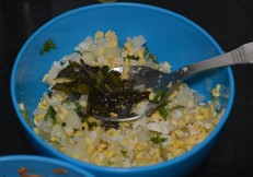 Tempered spices to kosambari