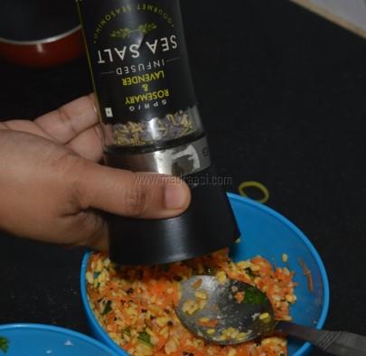With rosemary lavender sea salt