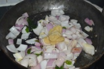 with onions and giner-garlic paste