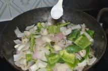 with capsicum and salt