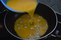 Custard mixture to ghee