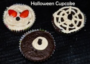 Halloween cupcakes - Spider web, Monster eye and Devil