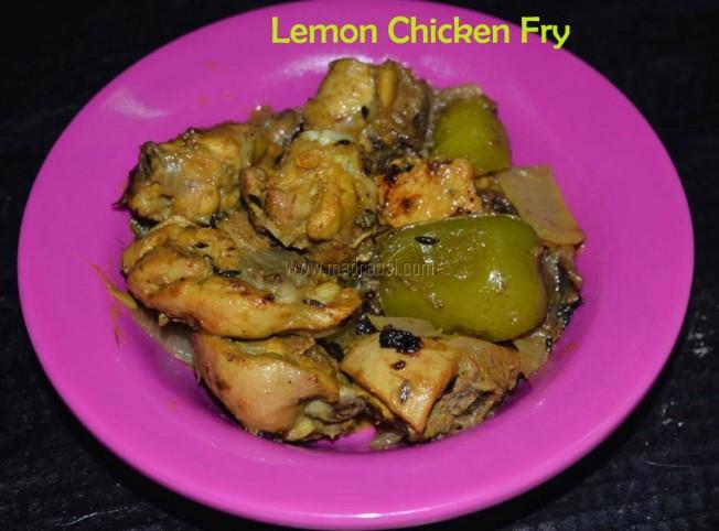 lemon chicken, lemon chicken fry, lemon chicken fry recipe, chicken recipe, easy chicken recipe, lemon chicken fry image, lemon chicken image, lemon chicken picture, lemon chicken fry picture, tamil nadu chicken recipe, tamil chicken recipe, Indian chicken recipe, easy cooking, simple chicken, lemon chicken fry with step by step pictorial recipe